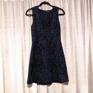 Zara Jacquard Blue Dress
